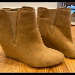 Forever21 Fall Wedge Booties